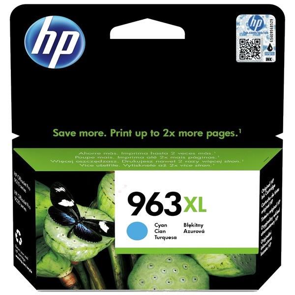 Original HP 3JA27AE / 963XL Tintenpatrone cyan 22,77 ml 1.600 Seiten