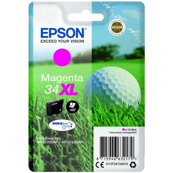 Original Epson C13T34734010 / 34XL Tintenpatrone magenta 10,8 ml 950 Seiten