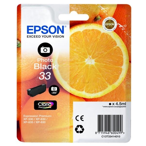 Original Epson C13T33414012 / 33 Tintenpatrone schwarz foto 4,5 ml 200 Seiten