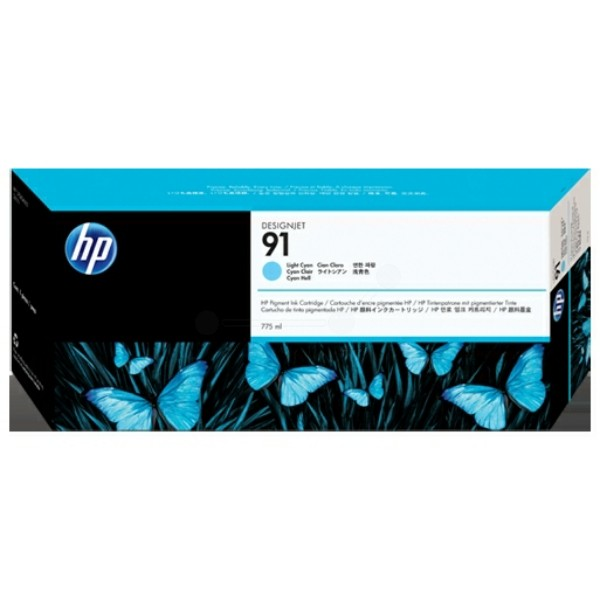 Original HP C9470A / 91 Tintenpatrone cyan hell 775 ml