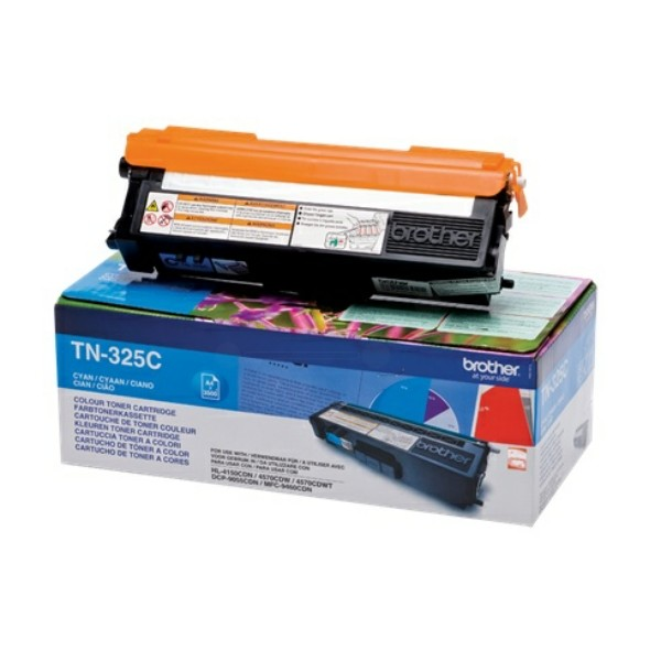 Original Brother TN325C Toner cyan 3.500 Seiten