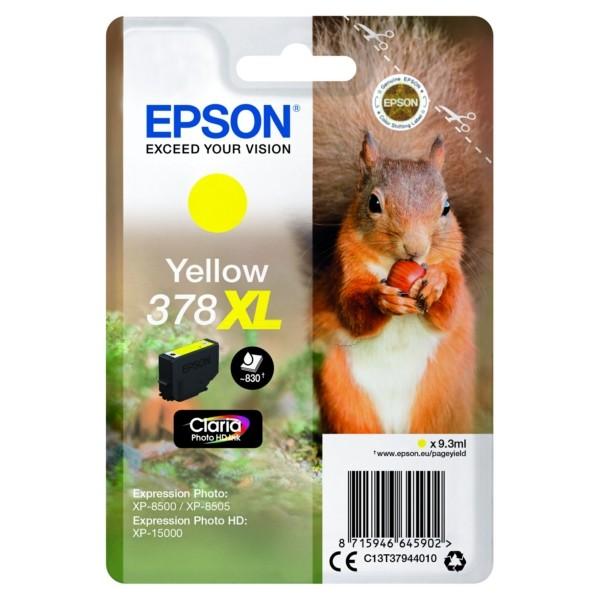 Original Epson C13T37944010 / 378XL Tintenpatrone gelb 9,3 ml 830 Seiten