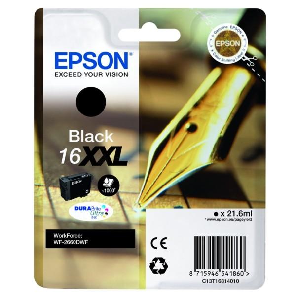 Original Epson C13T16814012 / 16XXL Tintenpatrone schwarz 21,6 ml 1.000 Seiten