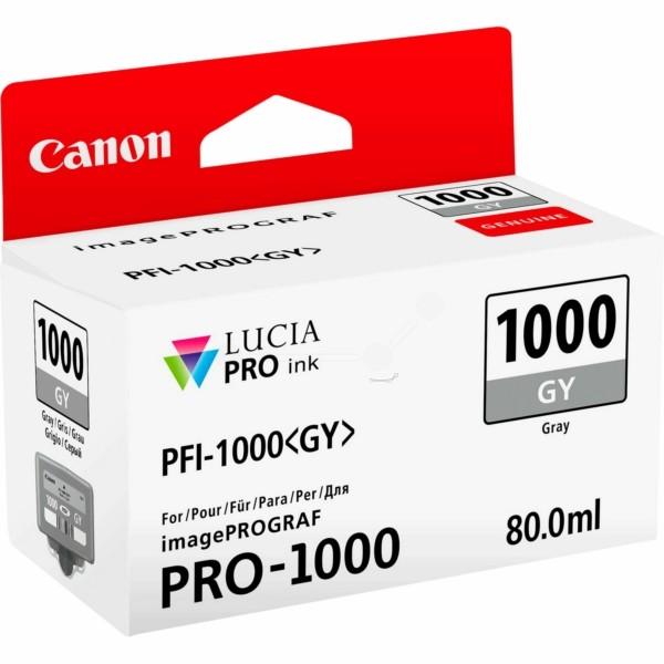 Original Canon 0552C001 / PFI-1000 GY Tintenpatrone grau 80 ml 1.465 Seiten