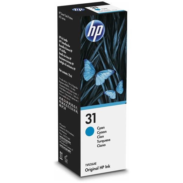 Original HP 1VU26AE / 31 Tintenpatrone cyan 70 ml 8.000 Seiten