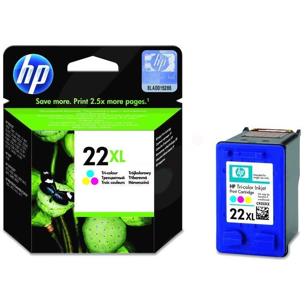 Original HP C9352CE / 22XL Druckkopfpatrone color High-Capacity 11 ml 415 Seiten