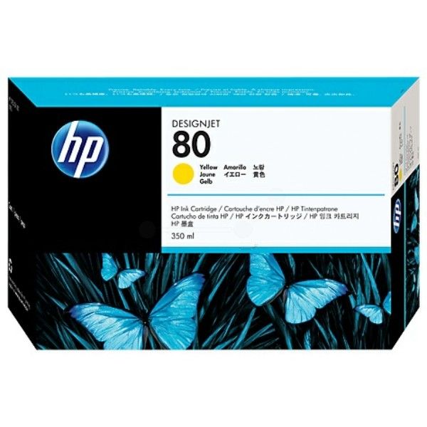 Original HP C4848A / 80 Tintenpatrone gelb High-Capacity 350 ml 4.400 Seiten
