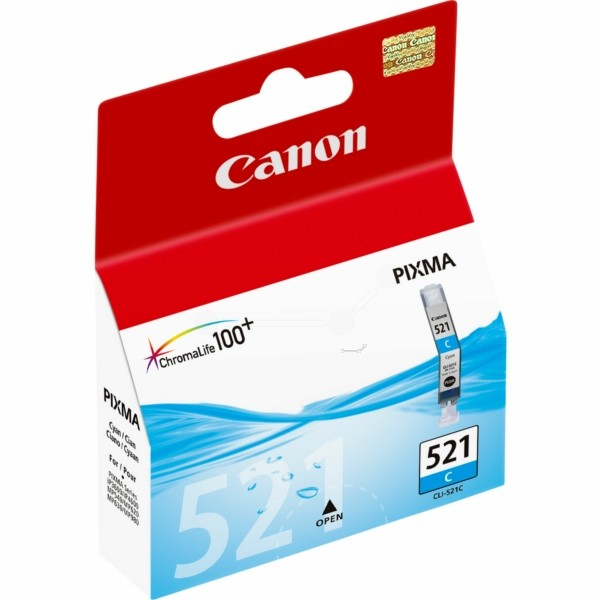 Original Canon 2934B001 / CLI-521 C Tintenpatrone cyan 9 ml 448 Seiten