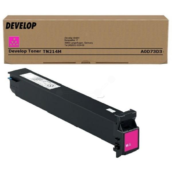 Original Develop A0D73D3 / TN-214 M Toner magenta 18.500 Seiten