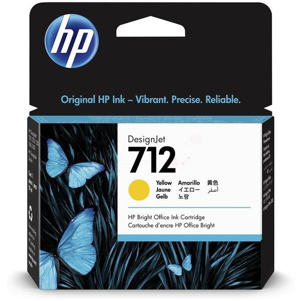 Original HP 3ED69A / 712 Tinte yellow 29 ml