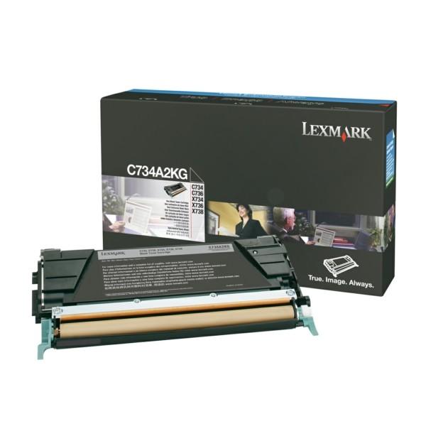 Original Lexmark C734A2YG Toner-Kit gelb 6.000 Seiten