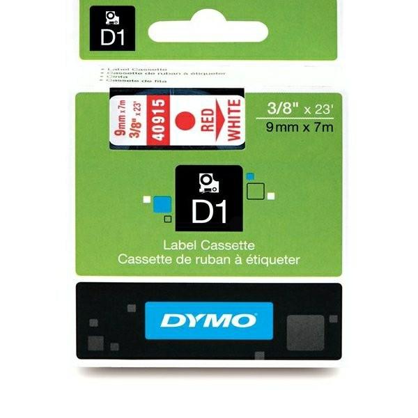 Original Dymo 40915 / S0720700 DirectLabel-Etiketten rot auf weiss