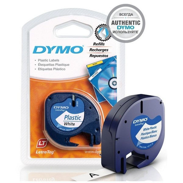Original Dymo 91201 / S0721610 DirectLabel-Etiketten Polyester weiss