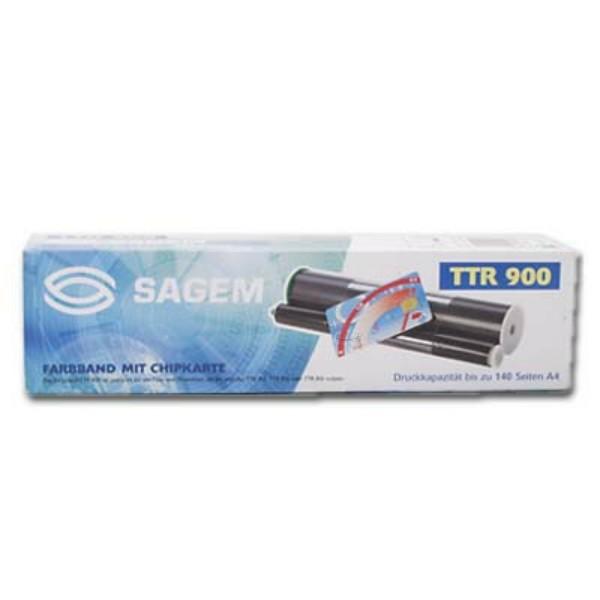 Original Sagem 236902123 / TTR 900 DUO Thermo-Transfer-Rolle Doppelpack 140 Seiten