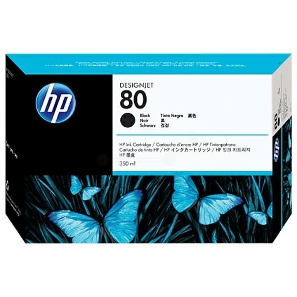 Original HP C4871A / 80 Tintenpatrone schwarz 350 ml 4.400 Seiten