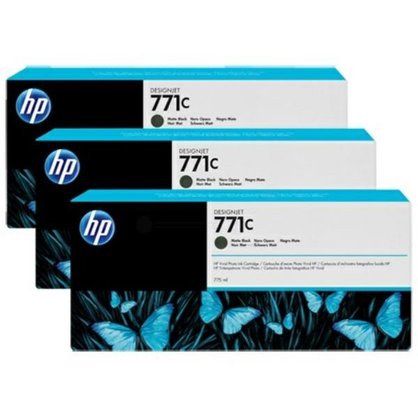Original HP B6Y31A / 771C Tintenpatrone schwarz matt 775 ml