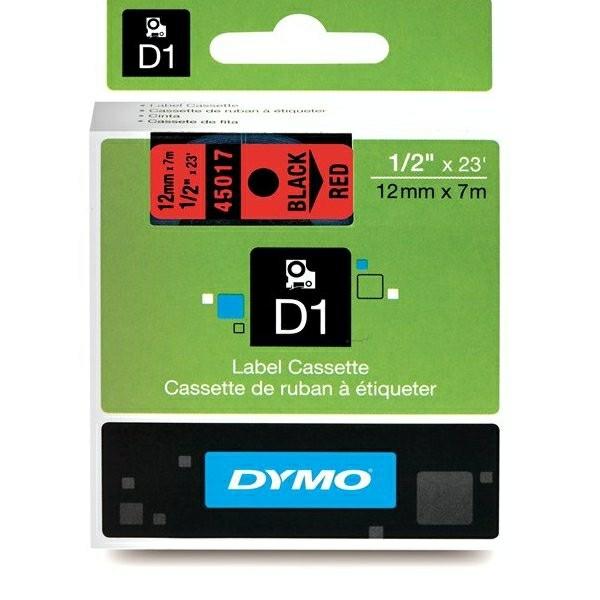 Original Dymo 45017 / S0720570 DirectLabel-Etiketten schwarz auf rot