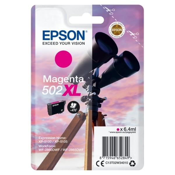 Original Epson C13T02W34010 / 502XL Tintenpatrone magenta 6,4 ml 470 Seiten