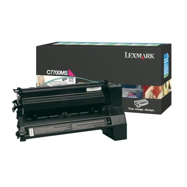 Original Lexmark C7700MS Tonerkartusche magenta return program 6.000 Seiten