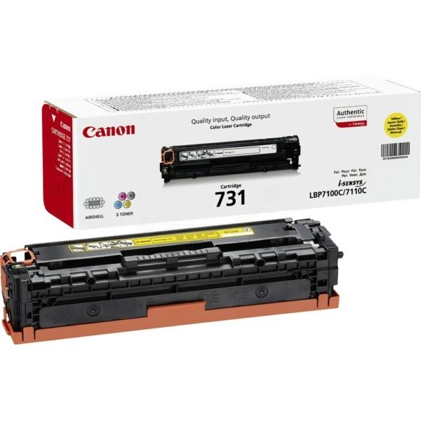Original Canon 6269B002 / 731Y Tonerkartusche gelb 1.500 Seiten