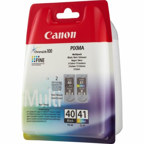 Original Canon 0615B036 / PG-40 CL 41 Druckkopfpatrone Multipack schwarz + color 16ml+12ml