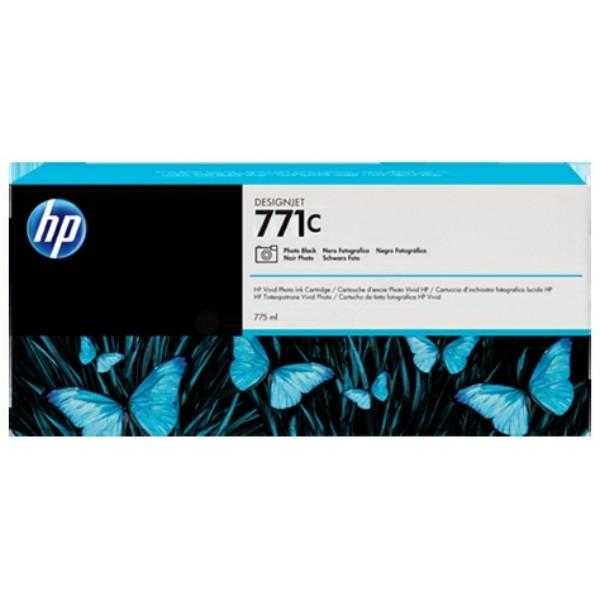 Original HP B6Y13A / 771C Tintenpatrone schwarz foto 775 ml