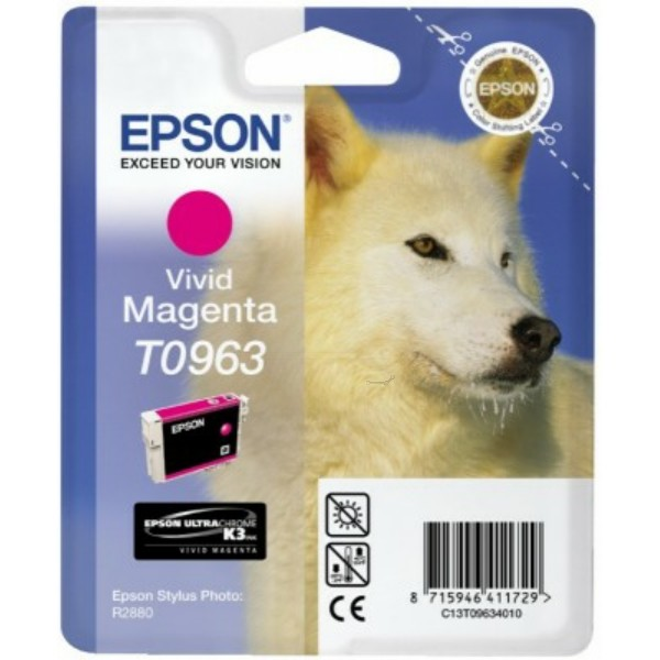 Original Epson C13T09634010 / T0963 Tintenpatrone magenta 11,4 ml 865 Seiten