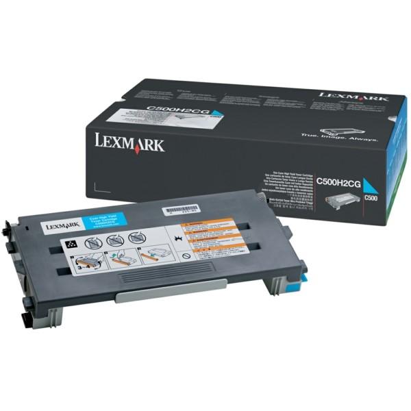 Original Lexmark C500H2CG Toner cyan 3.000 Seiten