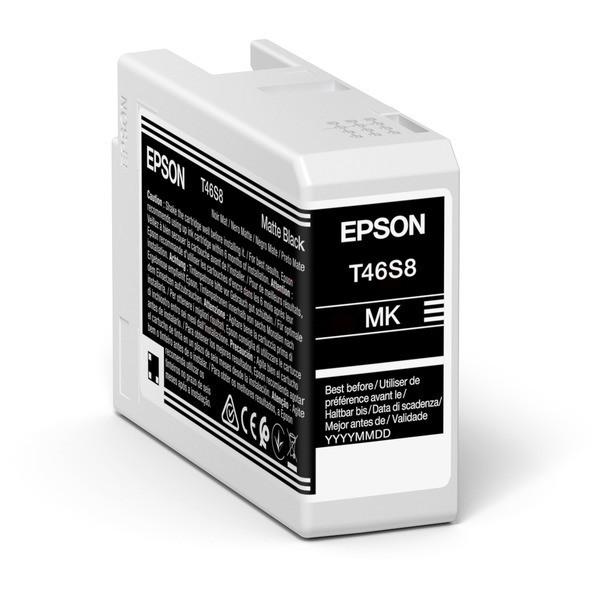 Original Epson C13T46S800 / T46S8 Tintenpatrone schwarz matt 25 ml