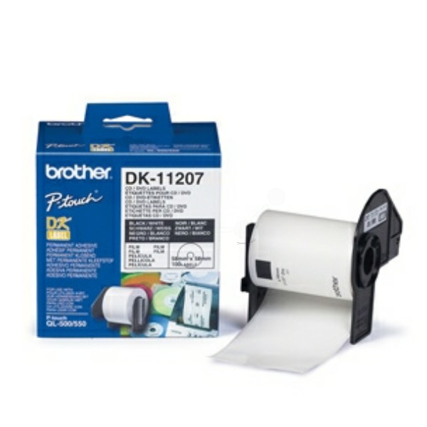 Original Brother DK11207 DirectLabel Etiketten CD/DVD 100