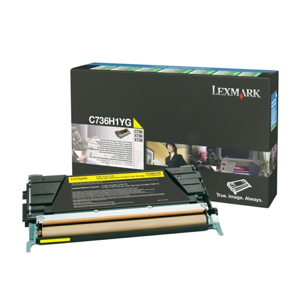 Original Lexmark C736H1YG Toner-Kit gelb return program 10.000 Seiten