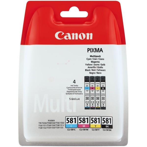 Original Canon 2103C004 / CLI-581 Tintenpatrone MultiPack Bk,C,M,Y 5,6 ml