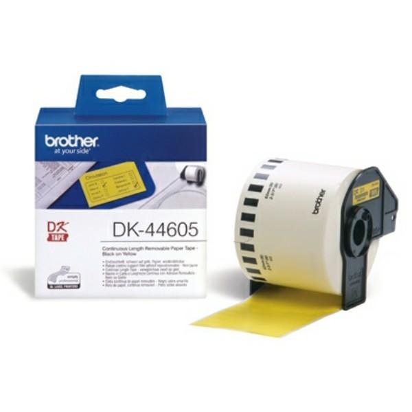 Original Brother DK44605 DirectLabel Etiketten gelb Papier