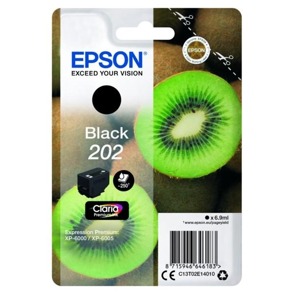 Original Epson C13T02E14010 / 202 Tintenpatrone schwarz 6,9 ml 250 Seiten