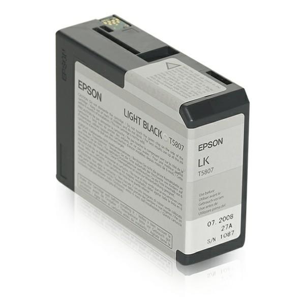 Original Epson C13T580700 / T5807 Tintenpatrone schwarz hell 80 ml