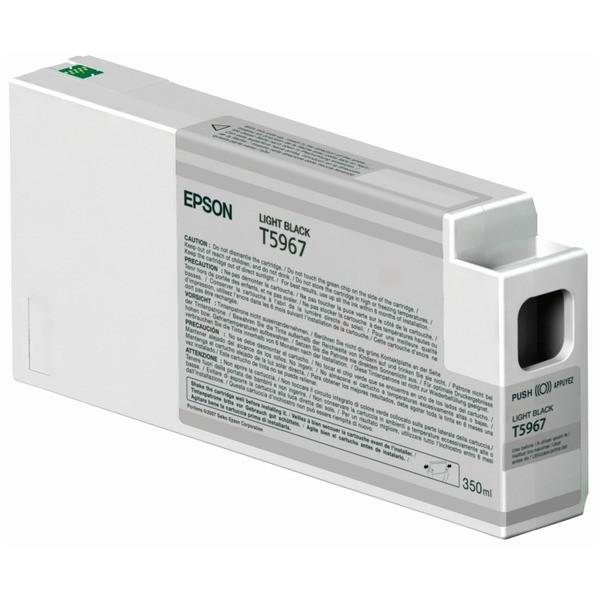 Original Epson C13T596700 / T5967 Tintenpatrone schwarz hell 350 ml