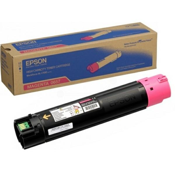 Original Epson C13S050657 / 0657 Toner-Kit magenta 13.700 Seiten
