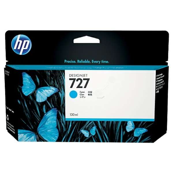Original HP F9J76A / 727 Tintenpatrone cyan 300 ml