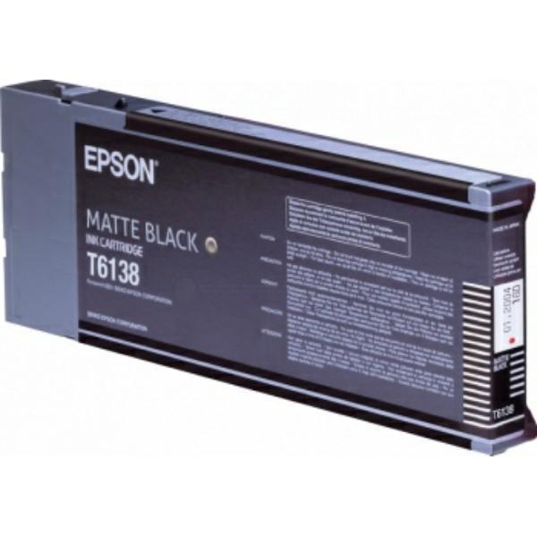 Original Epson C13T613800 / T6138 Tintenpatrone schwarz matt 110 ml