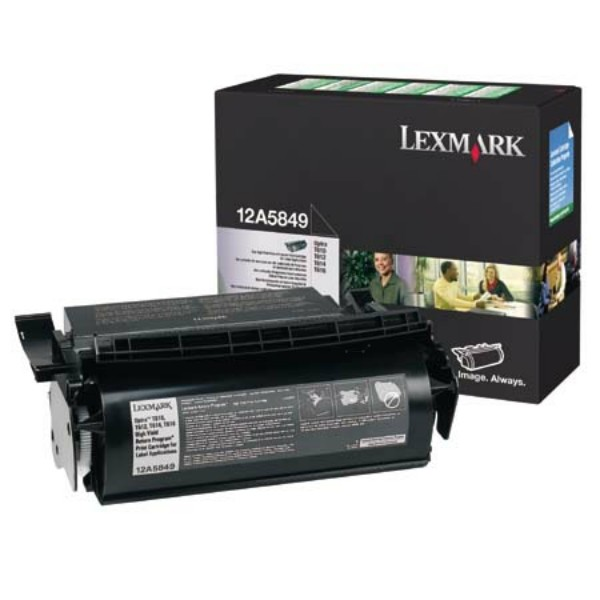 Original Lexmark 12A5849 Tonerkartusche schwarz return program für Etiketten 25.000 Seiten
