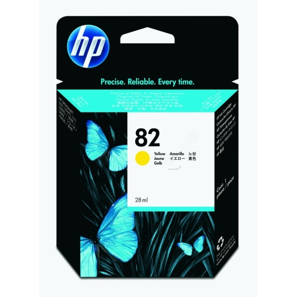 Original HP CH568A / 82 Tintenpatrone gelb 28 ml