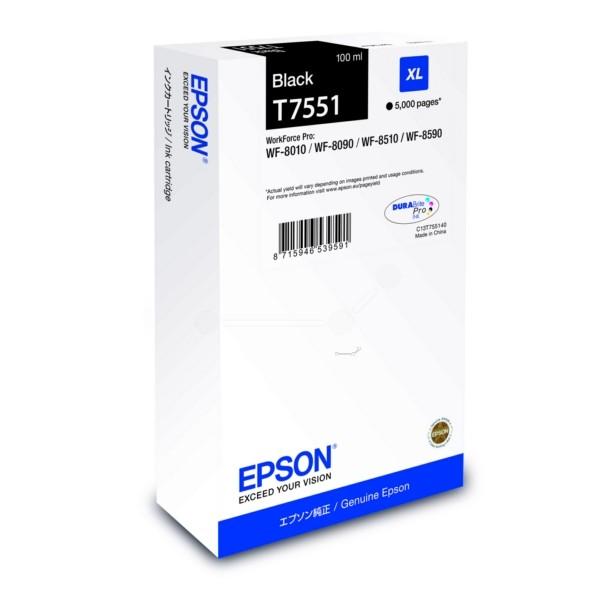 Original Epson C13T755140 / T7551 Tintenpatrone schwarz 100 ml 5.000 Seiten