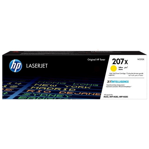 Original HP W2212X / 207X Tonerkartusche gelb High-Capacity 2.450 Seiten