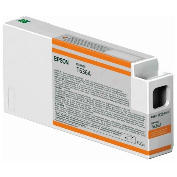 Original Epson C13T636A00 / T636A Tintenpatrone orange 700 ml
