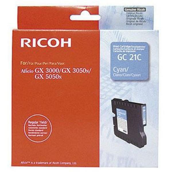 Original Ricoh 405533 / GC-21 C Gelkartusche cyan 1.000 Seiten