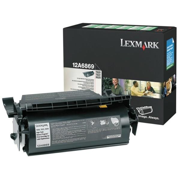 Original Lexmark 12A6869 Tonerkartusche schwarz return program für Etiketten 30.000 Seiten