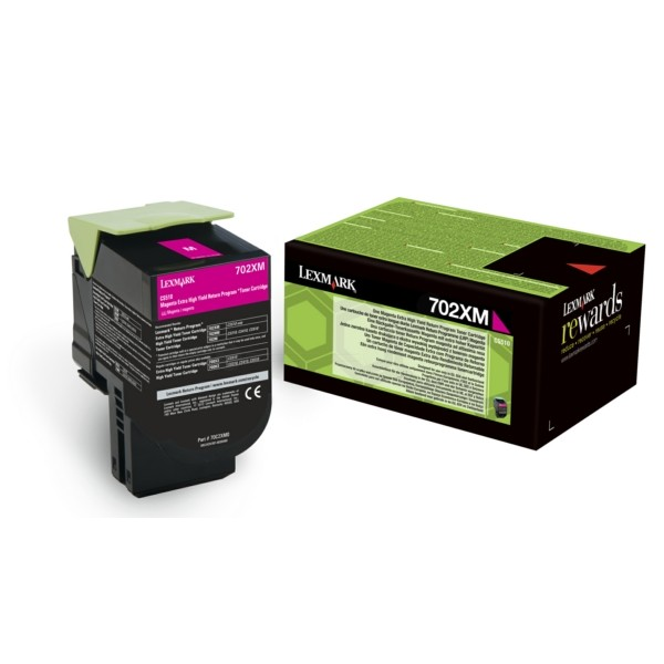 Original Lexmark 70C2XM0 / 702XM Toner-Kit magenta return program 4.000 Seiten