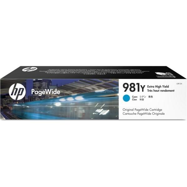 Original HP L0R13A / 981Y Tintenpatrone cyan 183 ml 16.000 Seiten