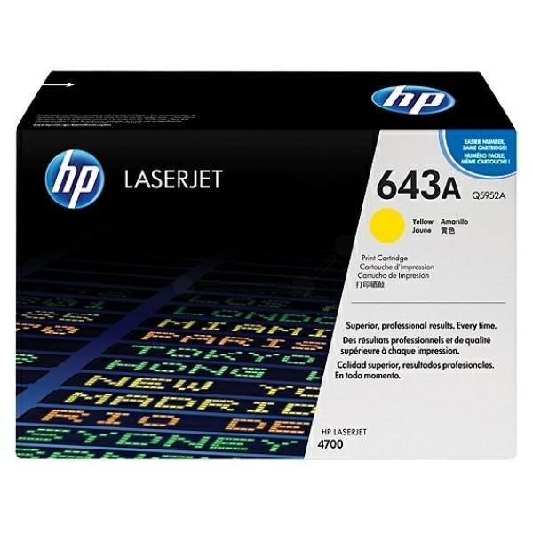 Original HP Q5952A / 643A Tonerkartusche gelb 10.000 Seiten