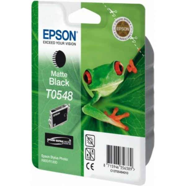 Original Epson C13T05484010 / T0548 Tintenpatrone schwarz matt 13 ml 550 Seiten